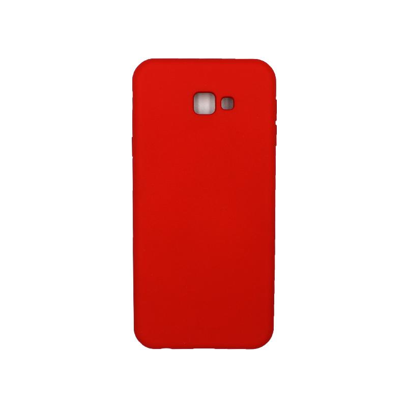 Θήκη Samsung Galaxy J4 Plus Silky and Soft Touch Silicone κόκκινο 1