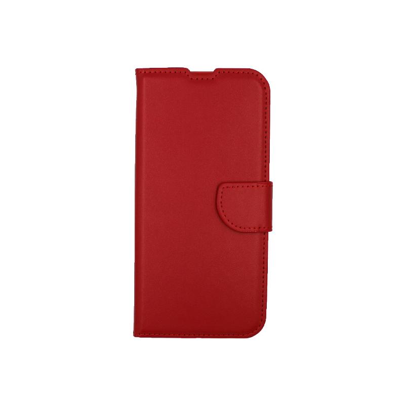 Θήκη Xiaomi Redmi Note 8T Wallet κόκκινο 1