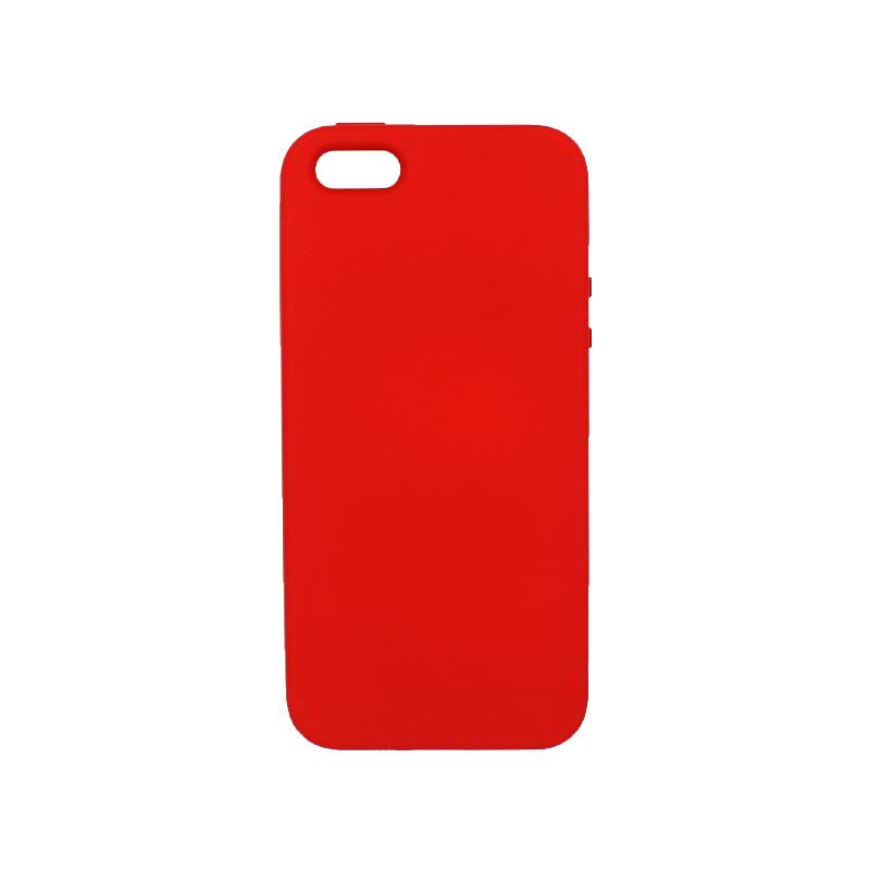 Θήκη iPhone 5 / 5s / SE Silky and Soft Touch Silicone κόκκινο 1