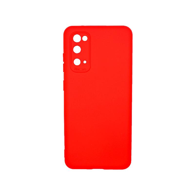 Θήκη Samsung Galaxy S20 Silky and Soft Touch Silicone κόκκινο 1