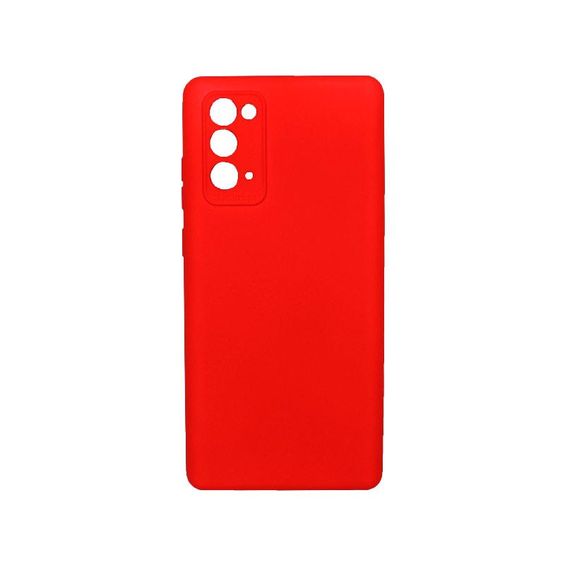 Θήκη Samsung Galaxy Note 20 Silky and Soft Touch Silicone Κόκκινο 1