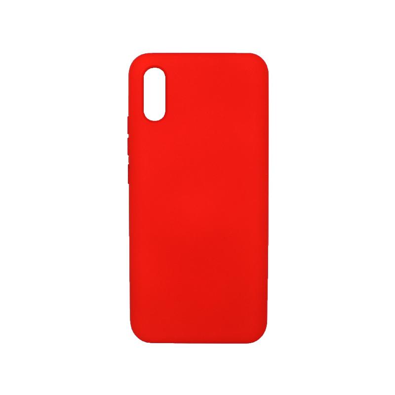 Θήκη Xiaomi Redmi 9A Silky and Soft Touch Silicone κόκκινο 1