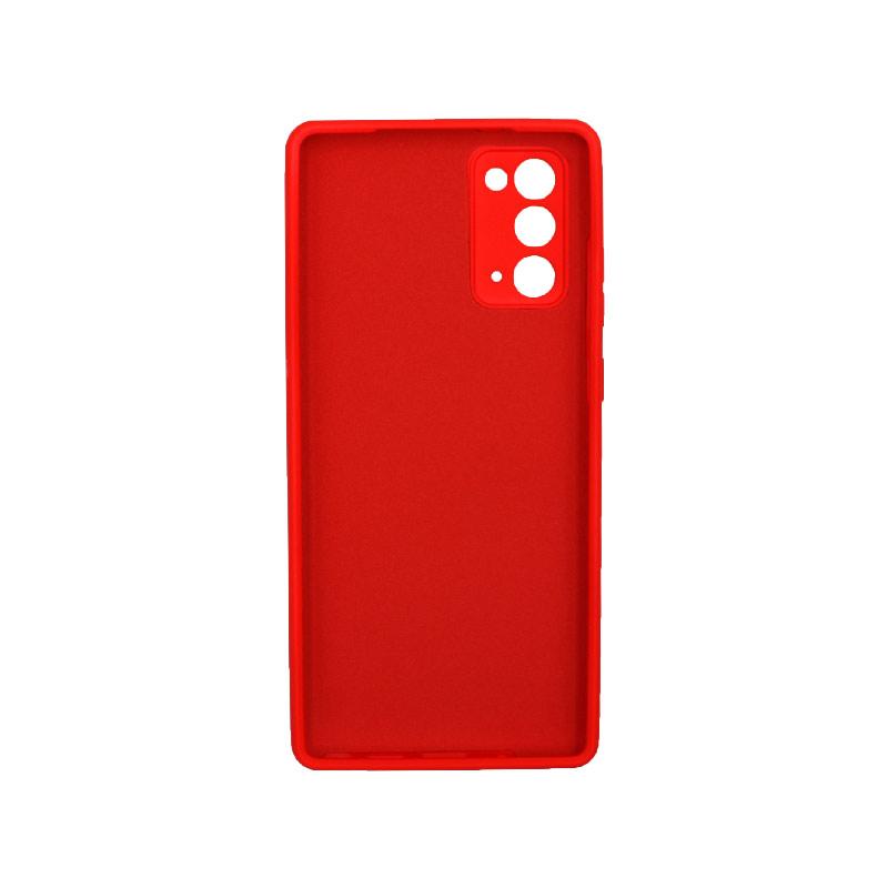 Θήκη Samsung Galaxy Note 20 Silky and Soft Touch Silicone Κόκκινο 2