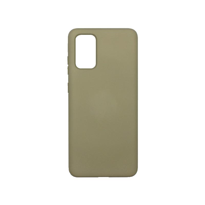Θήκη Samsung Galaxy S20 Plus Silky and Soft Touch Silicone λαδί 1