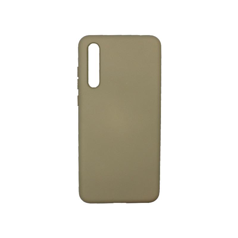 Θήκη Huawei P20 Pro Silky and Soft Touch Silicone λαδί 1