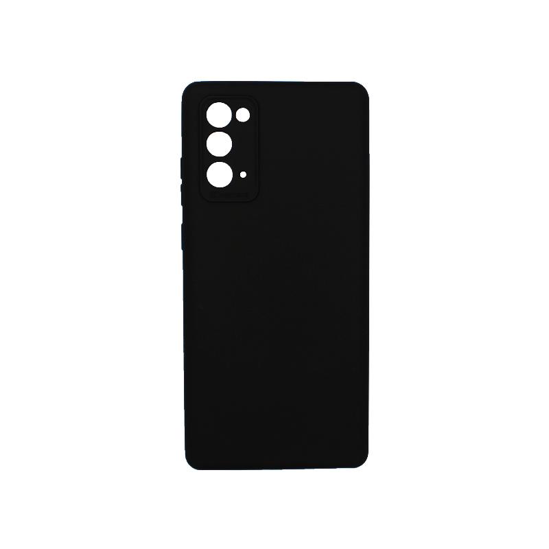 Θήκη Samsung Galaxy Note 20 Plus Silky and Soft Touch Silicone μαύρο 1