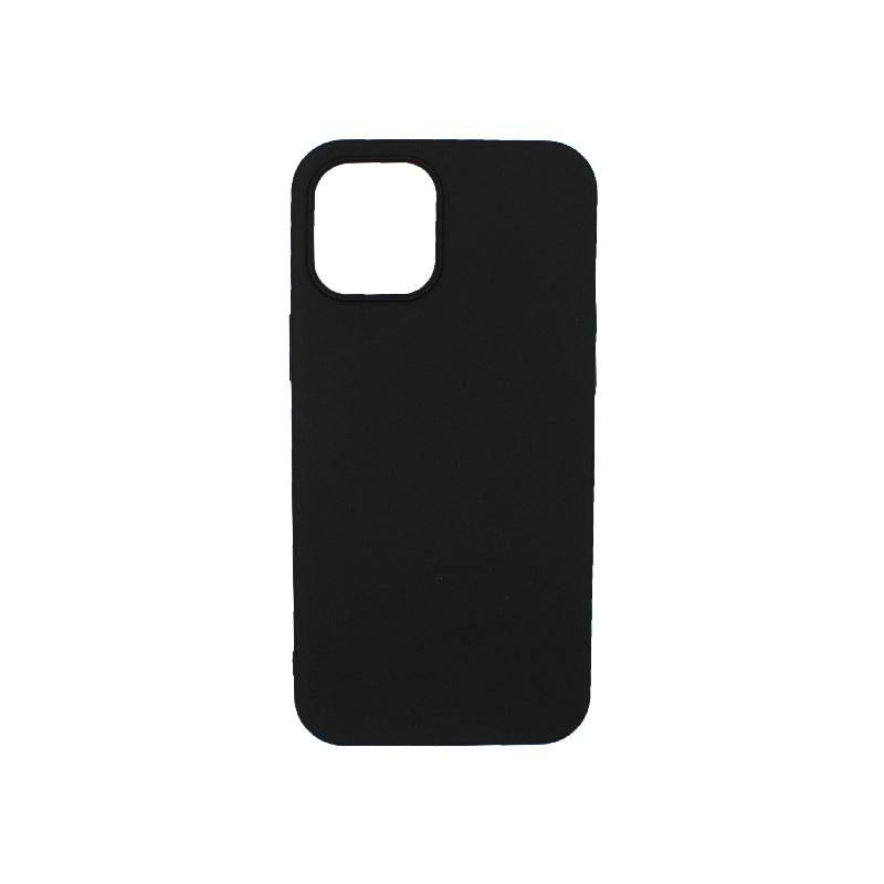 Θήκη iPhone 12 Σιλικόνη Μαύρο