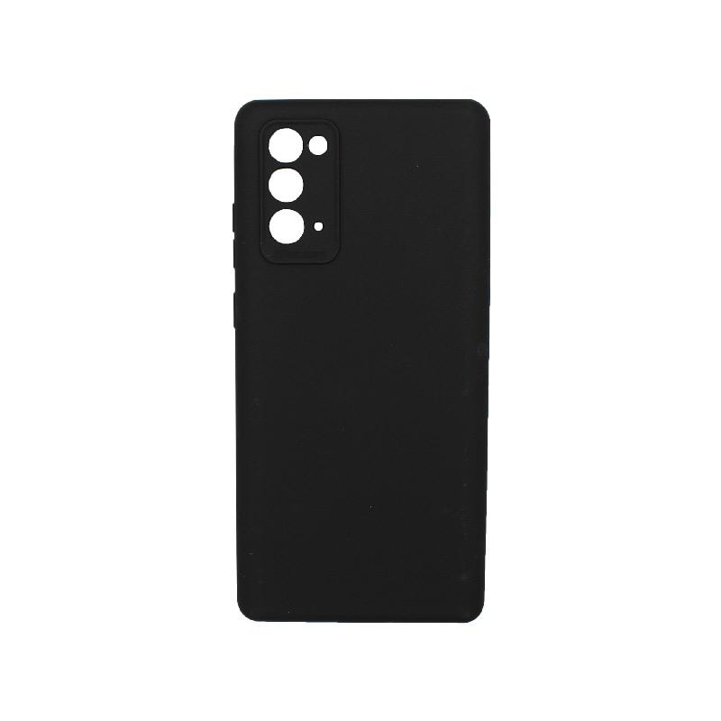 Θήκη Samsung Galaxy Note 20 Silky and Soft Touch Silicone Μαύρο 1