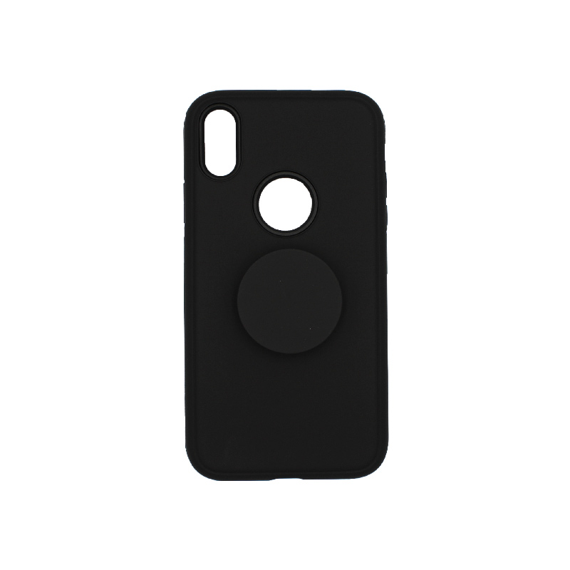 Θήκη iPhone XR με Popsocket Μαύρο 1
