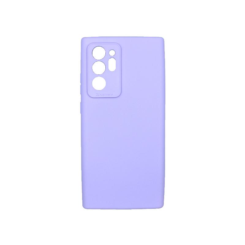 Θήκη Samsung Galaxy Note 20 Plus Silky and Soft Touch Silicone μωβ 1
