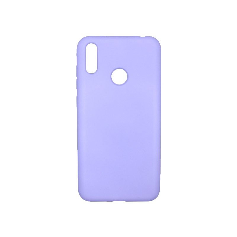Θήκη Huawei Y7 2019 Silky and Soft Touch Silicone Μωβ 1