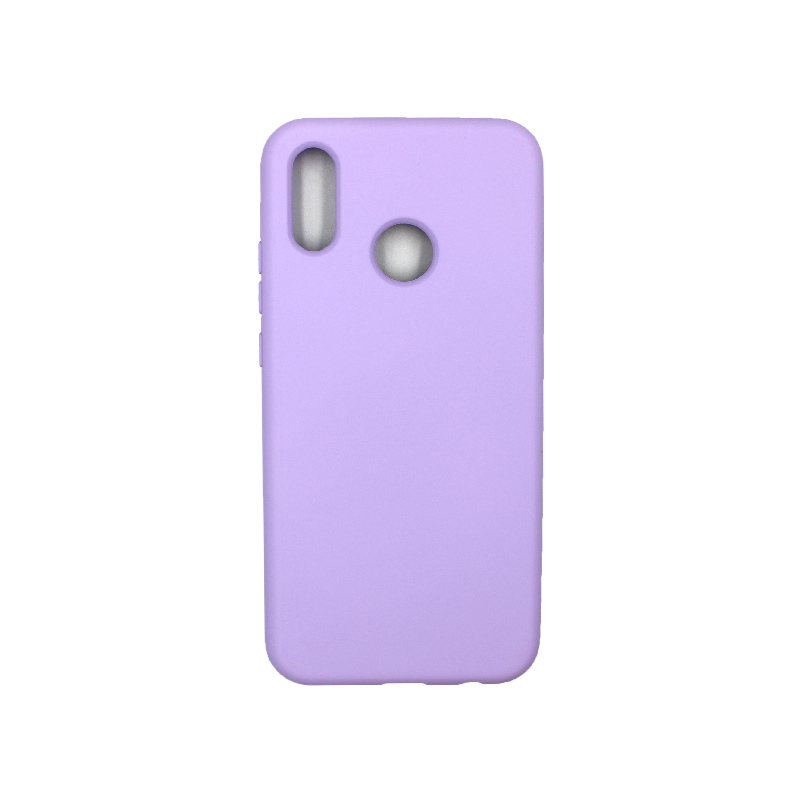 Θήκη Huawei P20 Lite Silky and Soft Touch Silicone μοβ 1
