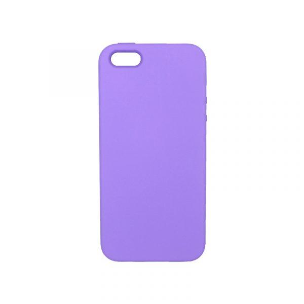 Θήκη iPhone 5 / 5s / SE Silky and Soft Touch Silicone μοβ 1