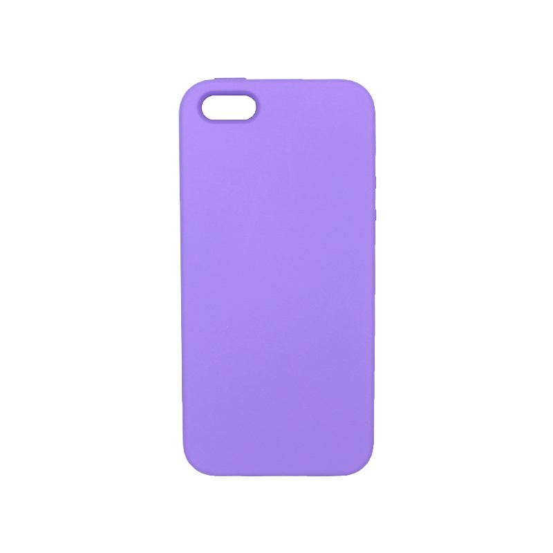 Θήκη iPhone 5 / 5s / SE Silky and Soft Touch Silicone μοβ 1