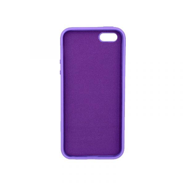 Θήκη iPhone 5 / 5s / SE Silky and Soft Touch Silicone μοβ 2