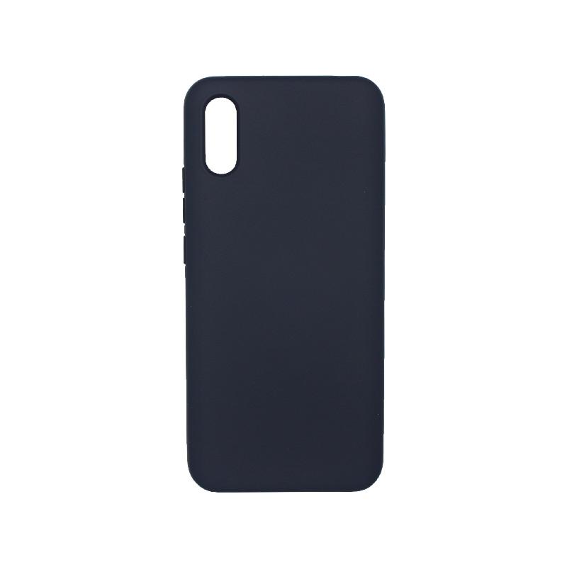 Θήκη Xiaomi Redmi 9A Silky and Soft Touch Silicone μπλε 1
