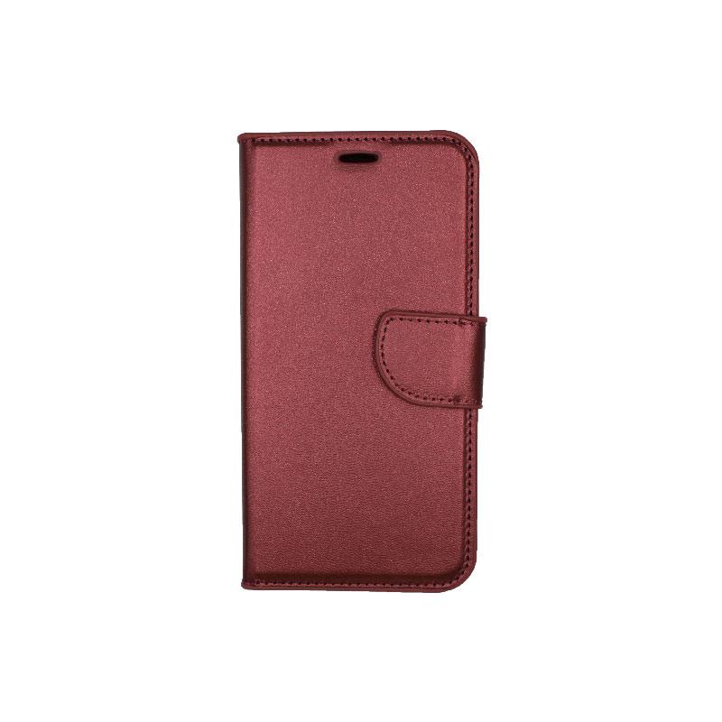 Θήκη Xiaomi Redmi 6 Wallet μπορντό 1
