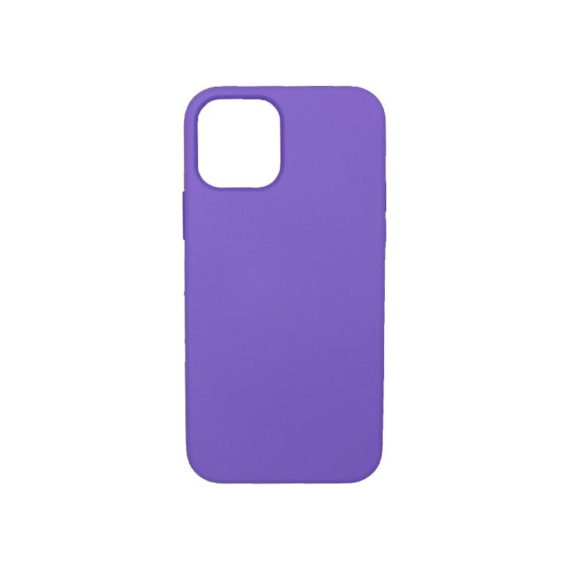 Θήκη iPhone 12 Silky and Soft Touch Silicone Μωβ 1