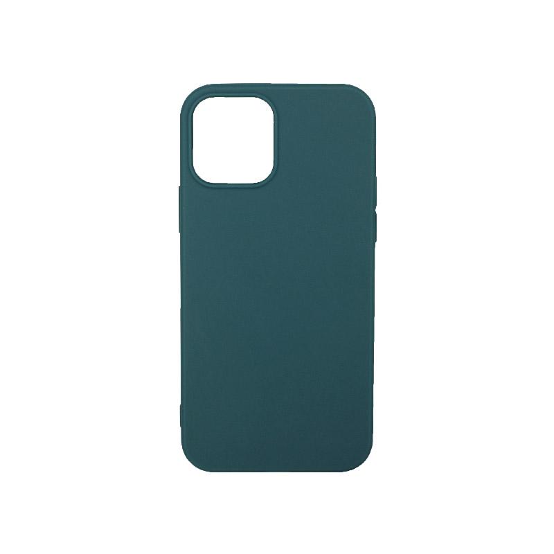 Θήκη iPhone 12 Σιλικόνη Πετρόλ