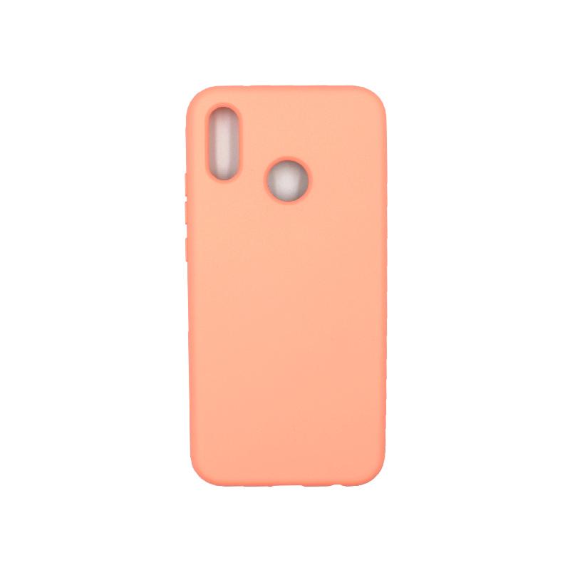Θήκη Huawei P20 Lite Silky and Soft Touch Silicone πορτοκαλί 1