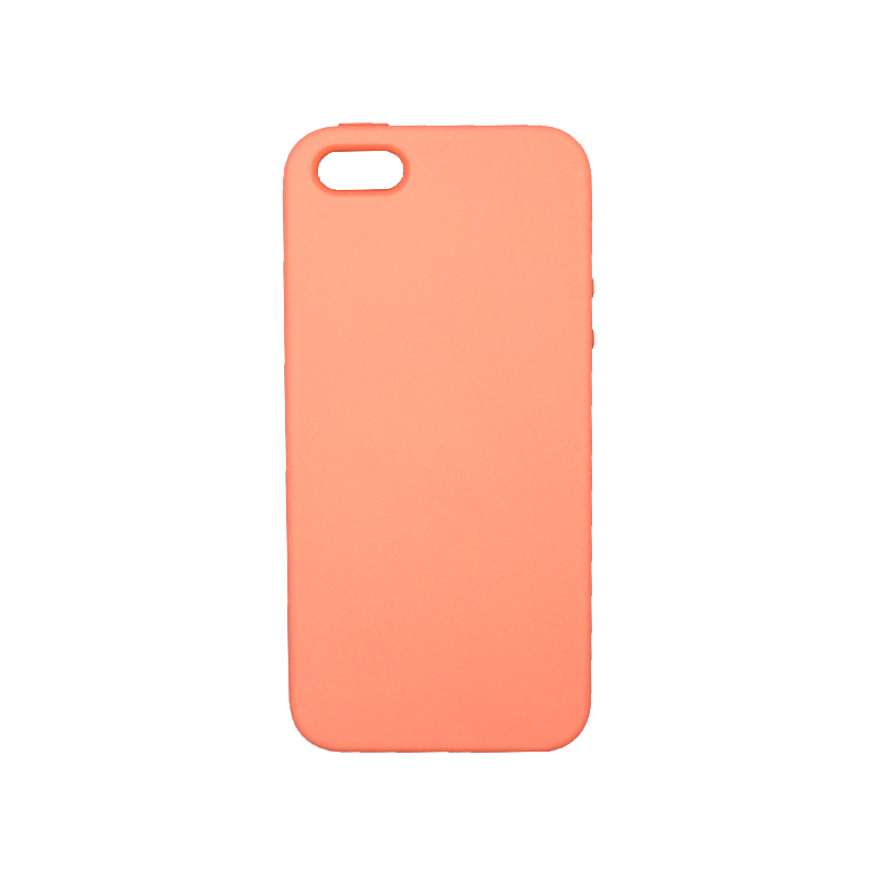 Θήκη iPhone 5 / 5s / SE Silky and Soft Touch Silicone πορτοκαλί 1
