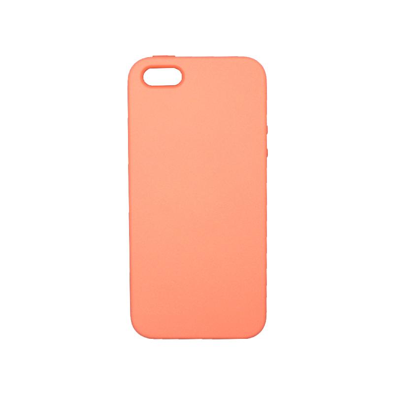 Θήκη iPhone 5 / 5s / SE Silky and Soft Touch Silicone πορτοκαλί 1