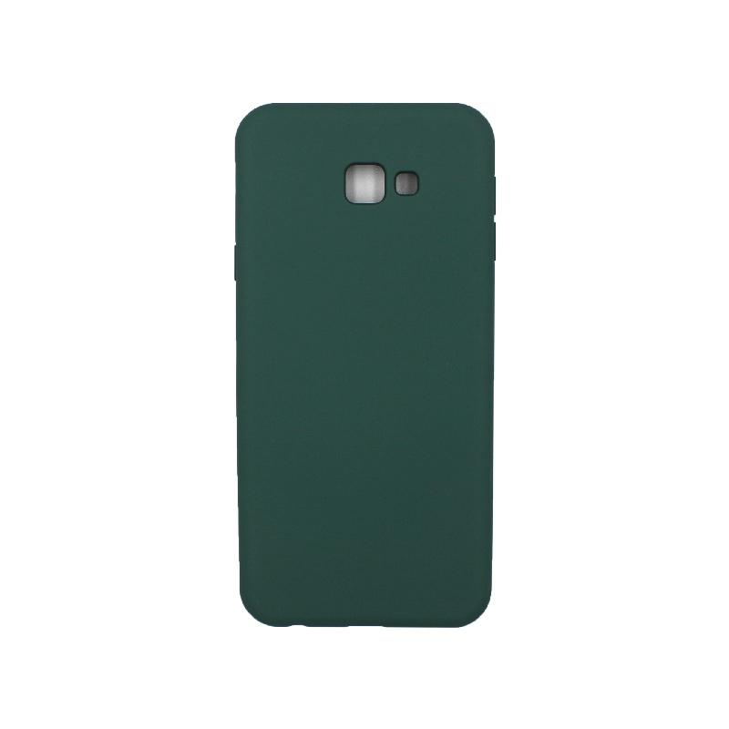 Θήκη Samsung Galaxy J4 Plus Silky and Soft Touch Silicone πράσινο 1