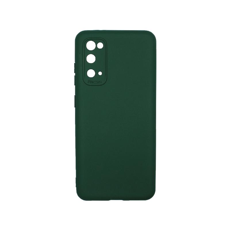 Θήκη Samsung Galaxy S20 Silky and Soft Touch Silicone πράσινο1