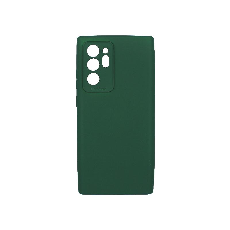 Θήκη Samsung Galaxy Note S20 Plus Silky and Soft Touch Silicone πράσινο 1
