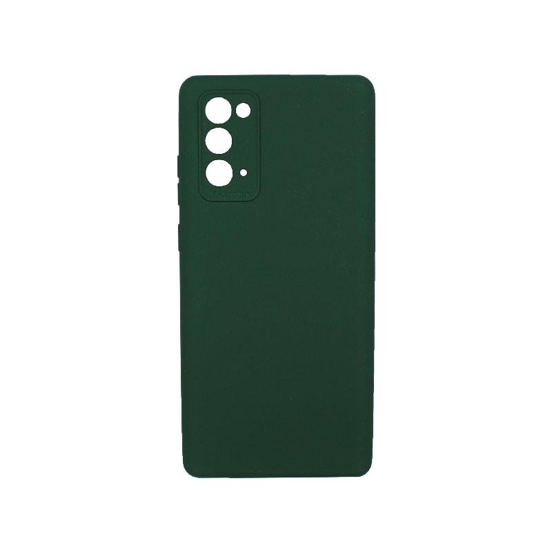 Θήκη Samsung Galaxy Note 20 Silky and Soft Touch Silicone Πράσινο 1