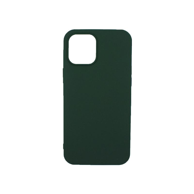 Θήκη iPhone 12 Σιλικόνη Πράσινο