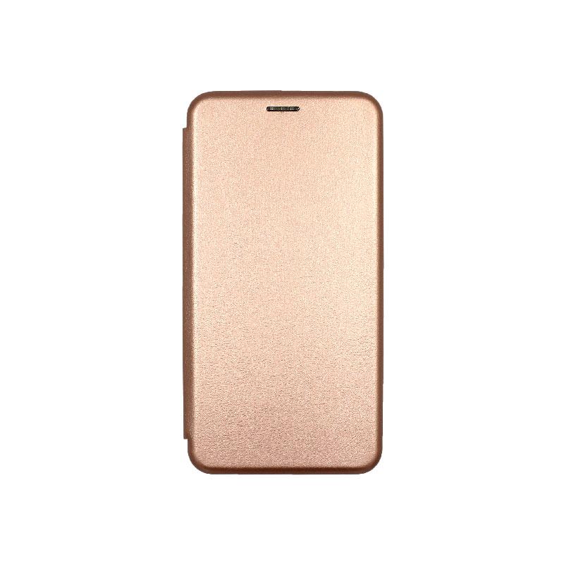 Θήκη Samsung Galaxy A20s Book ροζ χρυσό 1