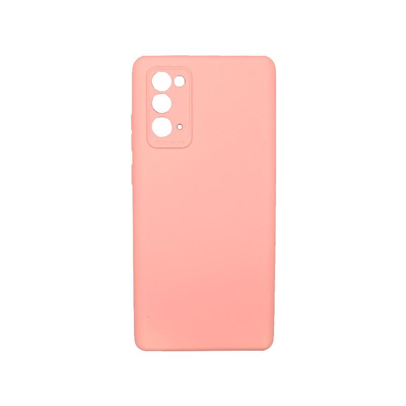 Θήκη Samsung Galaxy Note 20 Silky and Soft Touch Silicone Ροζ 1
