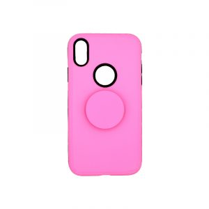 Θήκη iPhone XR με Popsocket Ροζ 1