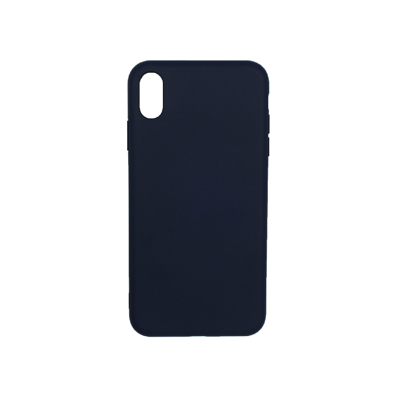 Θήκη iPhone XR Silky and Soft Touch Silicone μπλε σκούρο 1