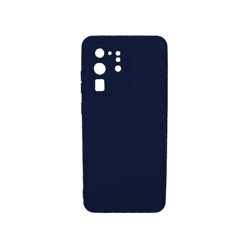 Θήκη Samsung Galaxy S20 Ultra Silky and Soft Touch Silicone Σκούρο μπλε 1