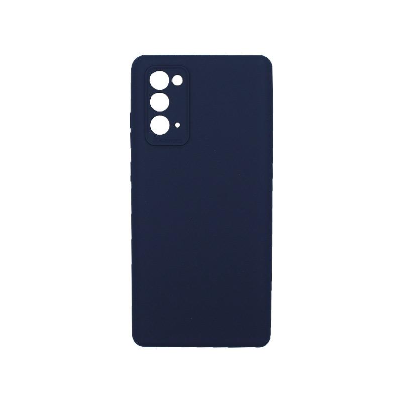 Θήκη Samsung Galaxy Note 20 Silky and Soft Touch Silicone Σκούρο μπλε 1