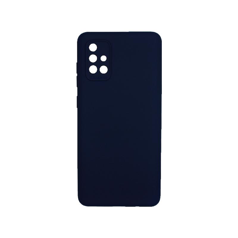 Θήκη Samsung Galaxy A71 Silky and Soft Touch Silicone Σκούρο μπλε 1