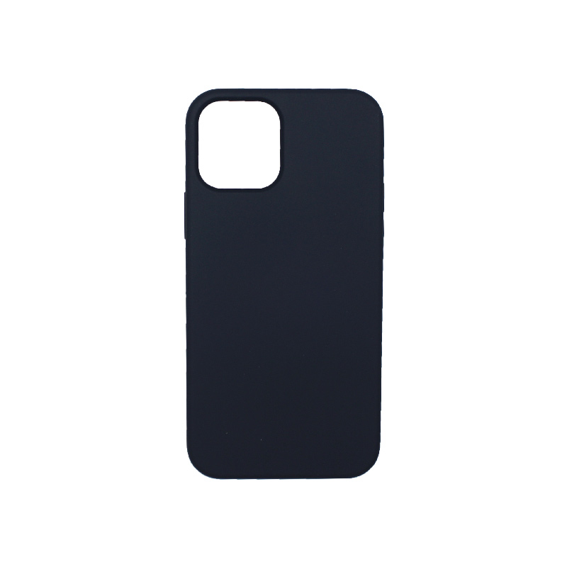 Θήκη iPhone 12 Silky and Soft Touch Silicone Σκούρο μπλε 1