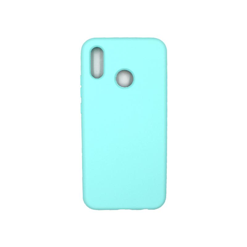 Θήκη Huawei P20 Lite Silky and Soft Touch Silicone τιρκουάζ 1