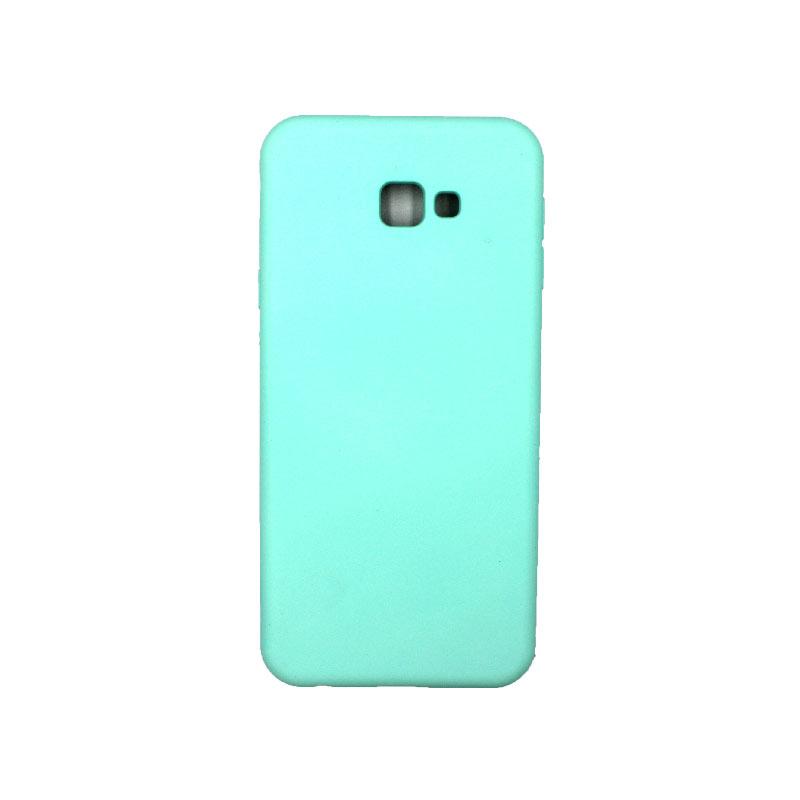 Θήκη Samsung Galaxy J4 Plus Silky and Soft Touch Silicone τιρκουάζ 1