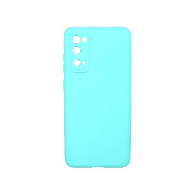 Θήκη Samsung Galaxy S20 Silky and Soft Touch Silicone τιρκουάζ 1