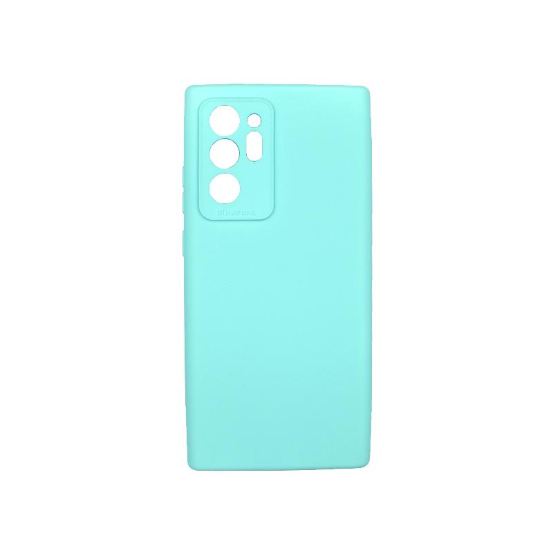 Θήκη Samsung Galaxy Note 20 Plus Silky and Soft Touch Silicone τιρκουάζ 1