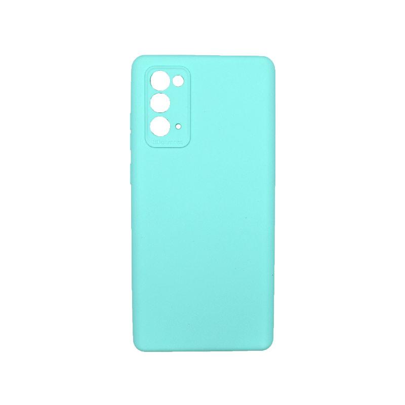 Θήκη Samsung Galaxy Note 20 Silky and Soft Touch Silicone Τιρκουάζ 1