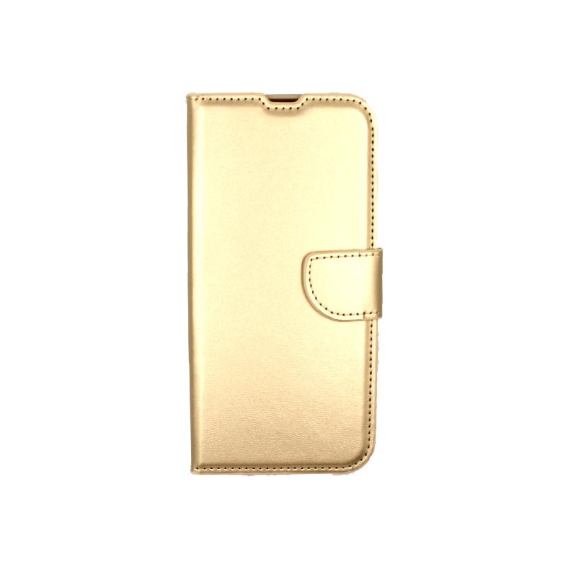Θήκη Xiaomi Redmi Note 8T Wallet χρυσό 1