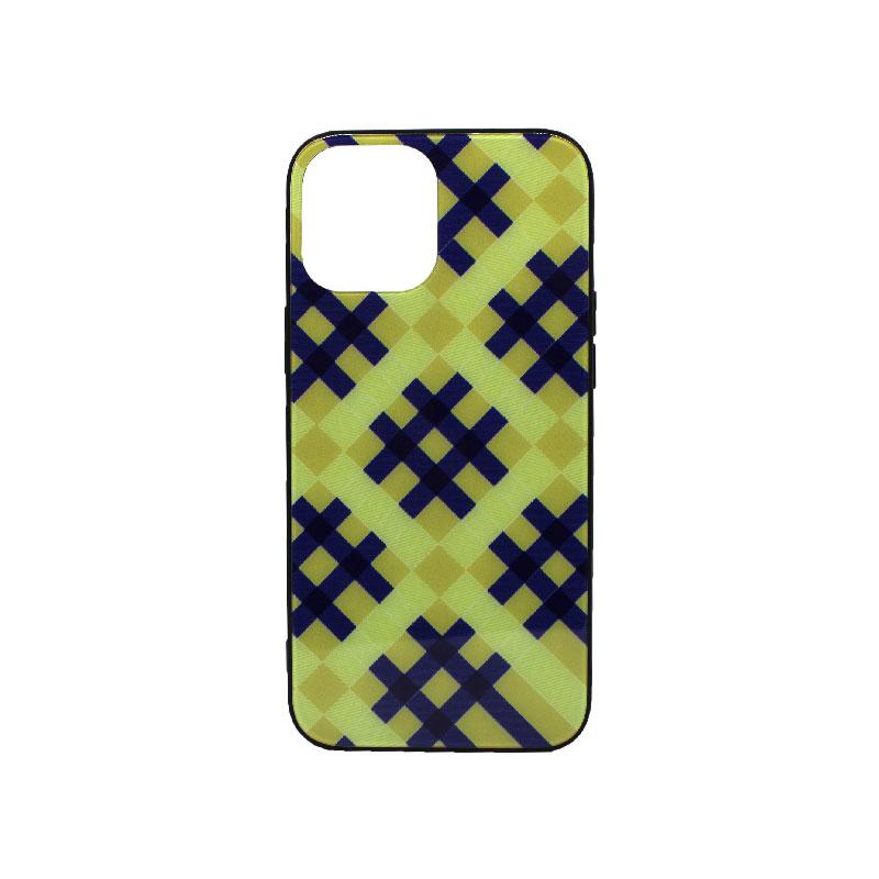 Θήκη iPhone 12 Κίτρινο Καρό