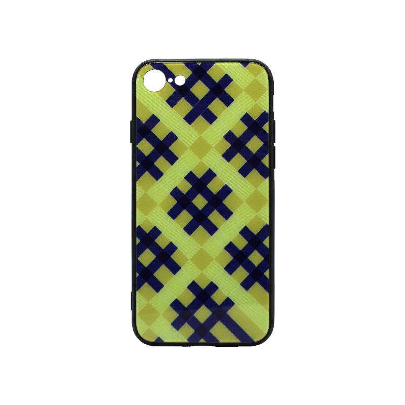 Θήκη iPhone 7 / 8 Κίτρινο Καρό