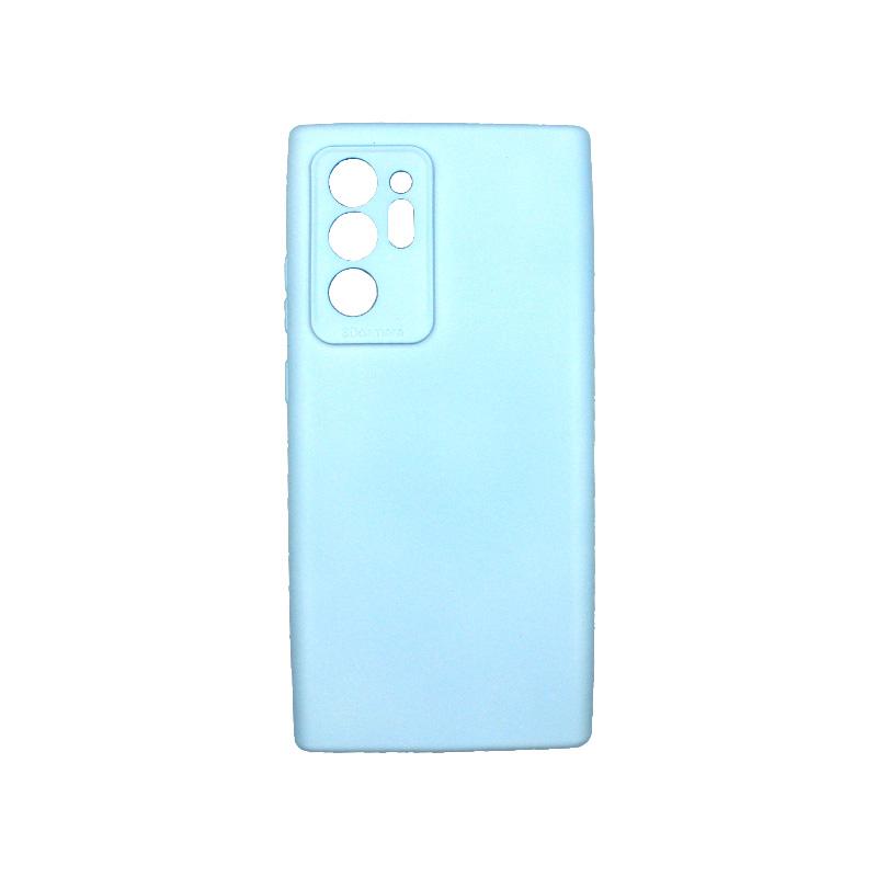 Θήκη Samsung Galaxy Note 20 Ultra Silky and Soft Touch Silicone Γαλάζιο 1