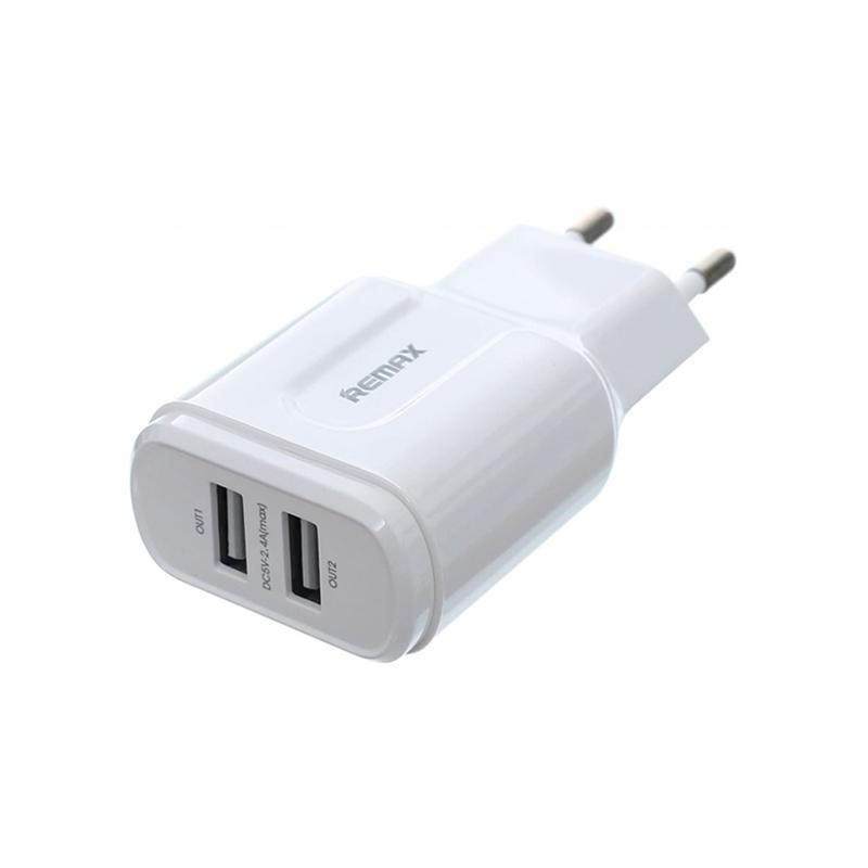 Φορτιστής Ταχείας Φόρτισης Remax RP-U22 Με 2 Θύρες USB Λευκό