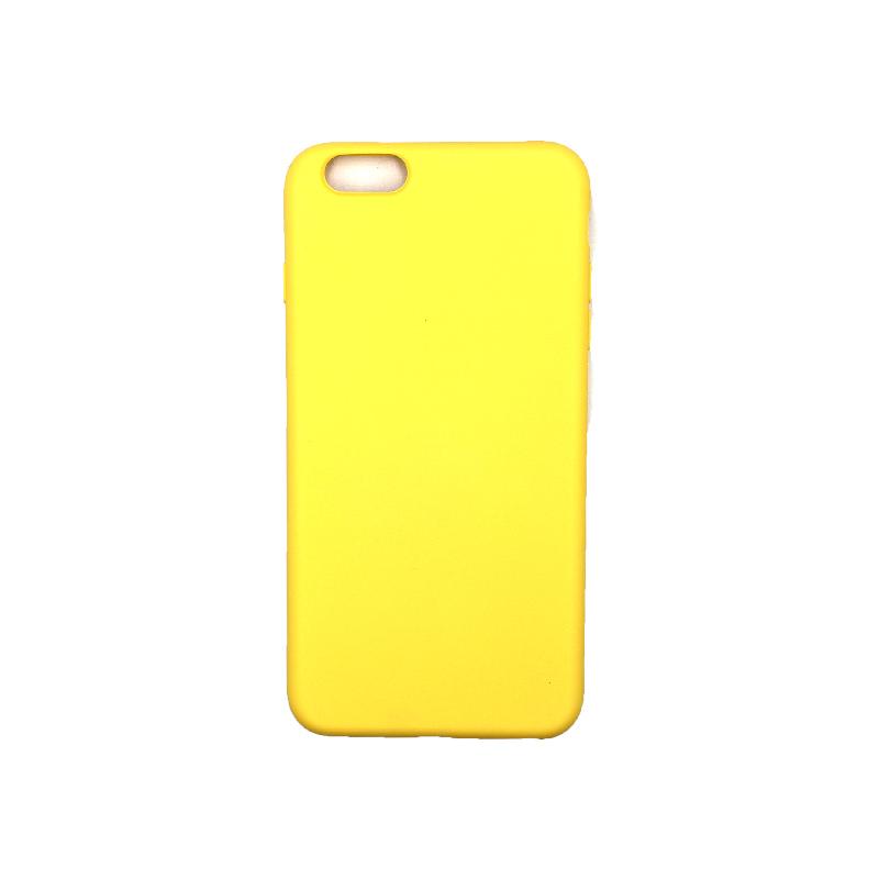 Θήκη iPhone 6 Plus / 6s Plus Silky and Soft Touch Silicone Κίτρινο 1